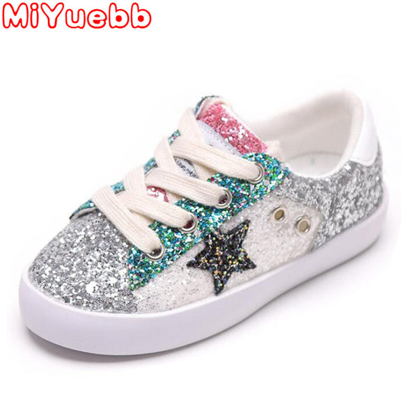 Kids Canvas Shoes Children'S Rubber Inner Cotton Cloth Sequin Pattern Sneakers Girl Non-Slip Shoes For Kids 2020 New Sneakers