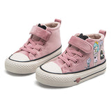 Kids Cotton Shoes 2019 New Winter Girls Plush Princess Shoes Cartoon Children's Sneakers Cute Students Suede Boots Girls Tennis