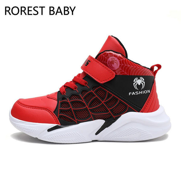 Kids Shoes Boy Sneakers Boy Basketball Shoes Baby Shoes Boys Shoes Sport Boots Boot Spider-Man Outdoor Shoes Big Kid Sneakers