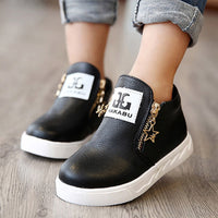 Kids Shoes Toddler Girl Shoes Leather Boys Shoes Pu Leather Anti-slippery Fashion Design Shoes for Child