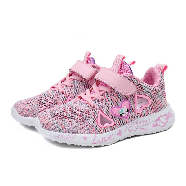 LAIBEITAI Brand New Girls Breathable Tennis Shoes Sneakers For Children Summer Kids pink color shoes  runner girl