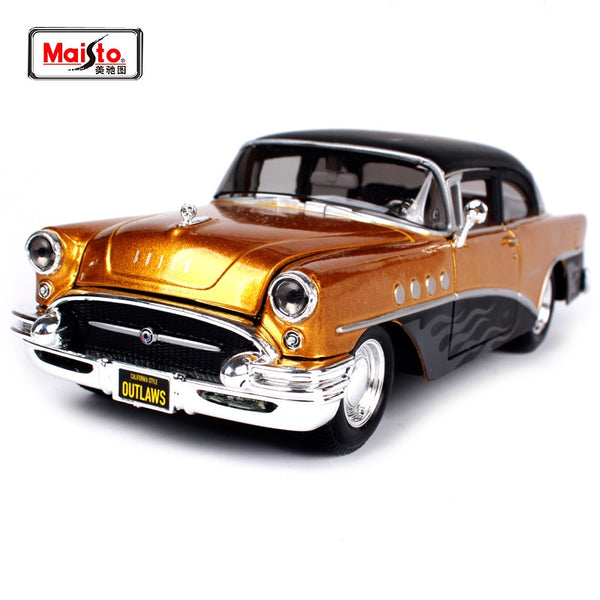 Maisto 1:26 1955 Buick Century Outlaws Police Old Car Diecast Model Car Toy New In Box Free Shipping 32507