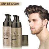 Men BB Cream Face Cream Natural Whitening Skin Care Men Effective Care Sunscreen Face Foundation Base Up Skin Color TSLM1