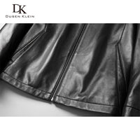 Men Genuine Leather Jacket Real Sheepskin Jackets Casual Short Black Pockets 2019 Autumn New Jacket for Man J1902