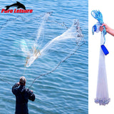 Mesh Fly Throw Catch Fishing Net 2.4-3.6M Fishing Network Outdoor Throw Catch Fishing Net Accessory Tool Gill Net Cast Net