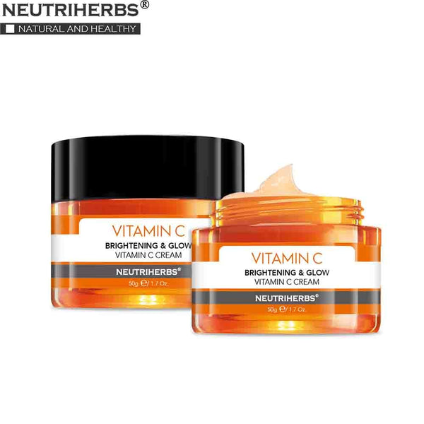 NUETRIHERBS Face Facial Cream with Vitamin C Night Cream Moisturizing Skin Anti Aging and Wrinkle 50g ℮ / 1.7oz