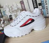New Filas Disruptor Ii Men And Women Sneaker Running Shoes White Summer Increased Outdoor Sneaker Size Eur 36-44