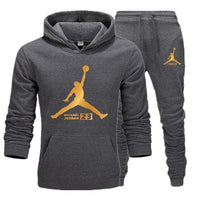 New Men  Hoodies Suit Fleece Warm Jordan 23 Tracksuit Men Sweatshirt Suit Hoodie+Sweat pants Jogging Homme Hooded Tracksuit XXL