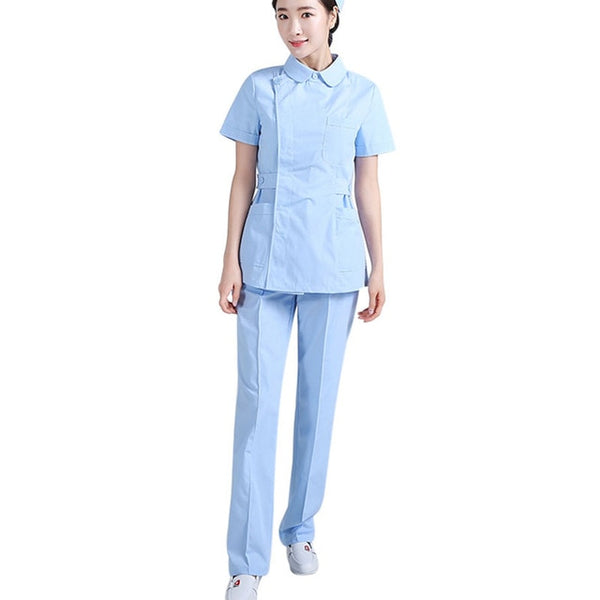 New Protective Clothing Isolation Gown Women Medical Uniforms Short Sleeve Isolation Suit Nurse Scrub Uniform Beauty Work Wear