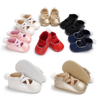 Newborn Baby Shoes Girl Solid 6-colos Fuzzy Ball Soft Sole Anti-slip Princess Crib Hook&loop Indoor First Walker Toddler Shoes