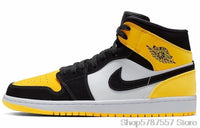 Nike Air Jordan 1 Retro High Bred Toe GS Basketball Shoes Men's Basketball Sneakers Unisex Women Breathable Outdoor 575541-610