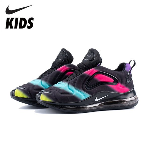 Nike Air Max 720 Kids Shoes Original New Arrival Children Running Shoes Comfortable Sports Air Cushion Sneakers #AO9294-009
