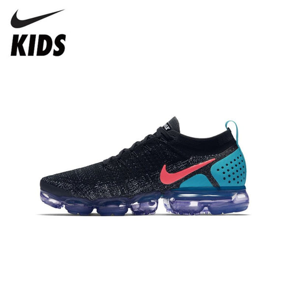 MREIO Dragon Mouth Night Light Childrens Lightweight Fly Knit Shoes Casual Sport Loafers Sneakers Running Shoes For Kids