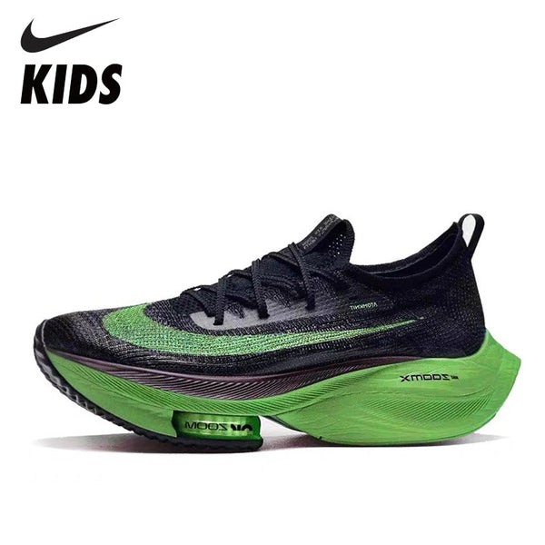 Nike Air Zoom Alphafly NEXT Kids Running Shoes Air Cushion Foam Marathon Running Shoes  Chidren Sneakers CI9925-400