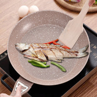 Non-stick Pan Steak Frying Pan Light Oil Type Pan Induction Medical Stone Cooker Universal Casserole Cooking Pot Rondell PDG52