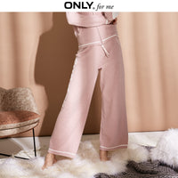 ONLY 2019 Spring Summer New Women's Letter Print Plush Casual Pants |11847V502