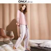 ONLY Women Homewear Pants Loose Fit Thin Striped Pajama Pants| 118414504