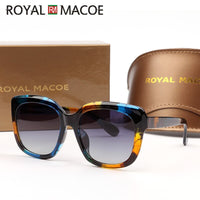 ROYAL MACOE 2020 Vintage Big Frame Mirror Sunglasses Women Brand Designer Gradient Lens High Quality Sun Glasses Oculos De Sol