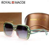 ROYAL MACOE Luxury Ladies Design Hd Polarized Sunglasses Women Oversized Square Gradient Sun Glasses Female Eyewear Oculos Uv400