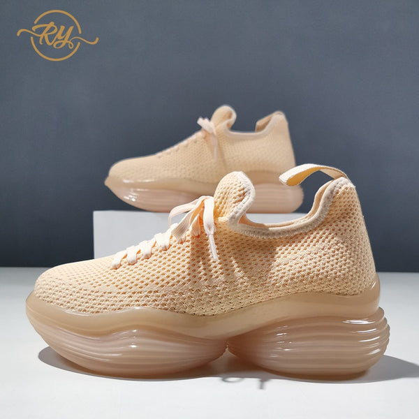 RY-RELAA Europe station women sneakers New in 2020 wedge sneakers fashion luxury shoes women designers ins women casual shoes