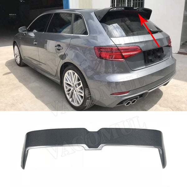 FREE EMS SHIPPING 15 days Rear Roof Spoiler Window Wing Carbon Fiber & FRP for Audi A3 S3 RS3 8V Hatchback 4 Door 2014 2015 2016 2017 2018