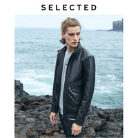 SELECTED Men A/W Sheepskin Stand-up Collar Genuine Leather Coats Zip-through Clothes Leather Jacket S | 419410501