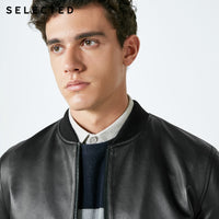 SELECTED Men's Spring Sheepskin Genuine Leather Coats Baseball Collar Clothes Jacket S | 418310512