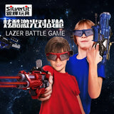 Silverlit Laser Tracking Battle Spear Model Sound And Light Toy Gun Suit Children Boy Electric Toys