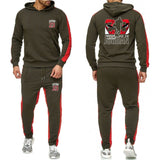 Spring 2019 new color blocked Hoodie sports suit Jordan 23 running Suit Hat sports suit fashion leisure two piece set