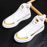 Stephoes New Men Fashion Casual Ankle Boots Spring Autumn Thick Bottom White Shoes Male Youth Trending Luxury Designer Shoes