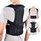 Straight Back Posture Corrector Shoulder Lumbar Brace Spine Support Belt Adjustable Corset Correction Body with Support Plate