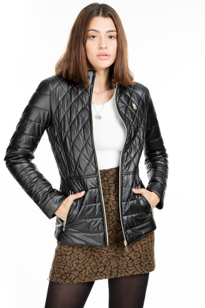 U.S. Polo Faux Leather Jacket WOMEN LEATHER JACKET G082SZ035P01 WP8003