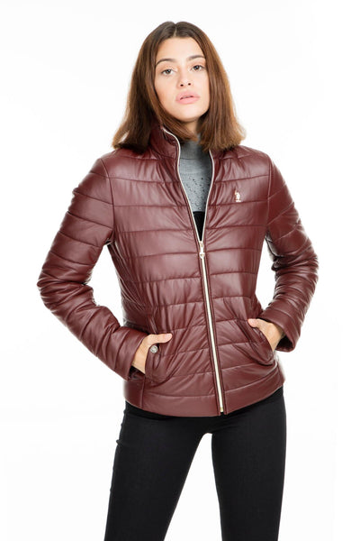 U.S. Polo Faux Leather Jacket WOMEN LEATHER JACKET G082SZ035P01 WP8033