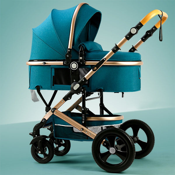 USA free ship! High landscape stroller can sit reclining folding stroller baby shock-absorbing newborn stroller