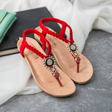 WENYUJH New Fashion 2019 Casual Women Sandals Comfort Summer Shoes Classic Rhinestone Flat Sandslias Feminina Crystal Scandals