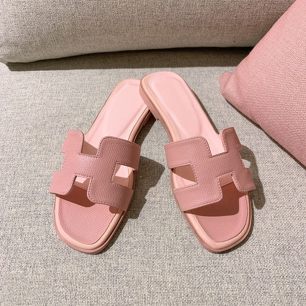 Women's flat bottom fashion wear beach shoes women's casual word women's shoes summer new wild sandals and slippers women