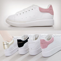 YCXFLYER  Handcrafted Female Smooth Calf Leather Lace-up Sneaker Women Flats Rounded Toe Fashion Casual Outdoor Flats