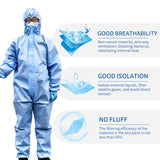 ZD Zhende Medical Disposable Protective Coverall Hooded Suit Breathable Surgical Isolation Gown Blue Protective Clothing