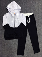 Women's Set Tracksuit For Women Set Suit Patchwork Zipper Hoodies+Long Pants Casual Sportwear Costume 2 Pieces Set For Lady