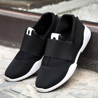 Men Casual Shoes Canvas Flats Size 39-44 Summer Comfortable Fashion Patchwork Men Shoes Flat Slip On Elastic Plimsolls Driving