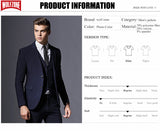 Sale Brand Mens Suit Formal Business Blazer Men Groom Three Pieces Slim Fit Party Jacket Clothing Single Button Wedding Dress