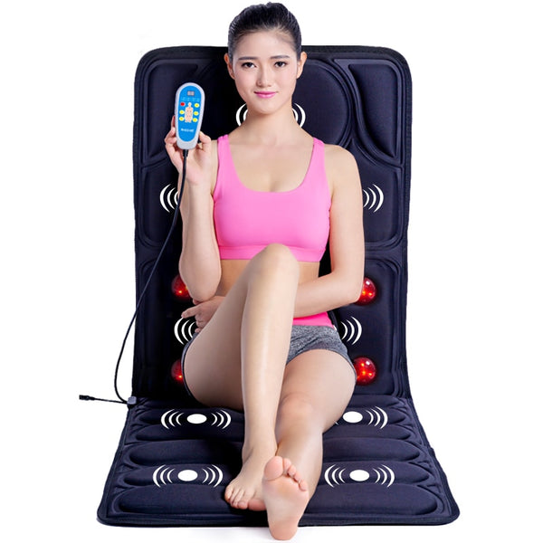 Vibration heating Massage Cushion cervical neck massage Acupressure cushion Far Infrared mattress massage mat 110-240V