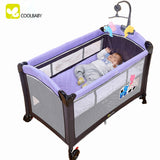 coolbaby Game multi-functional bed Portable folding crib playpen for sleep folding cot bed baby bed Russia free shipping