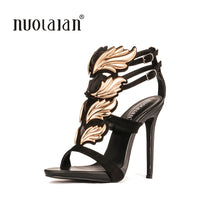 Brand fashion women pumps leaf flame high heel pumps shoes for women sexy peep toe high heels sandals party wedding shoes woman