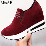 MISAB fashion sneakers Women flats Slimming flats platform flat shoes women Spring breathable creepers women casual shoes loafer