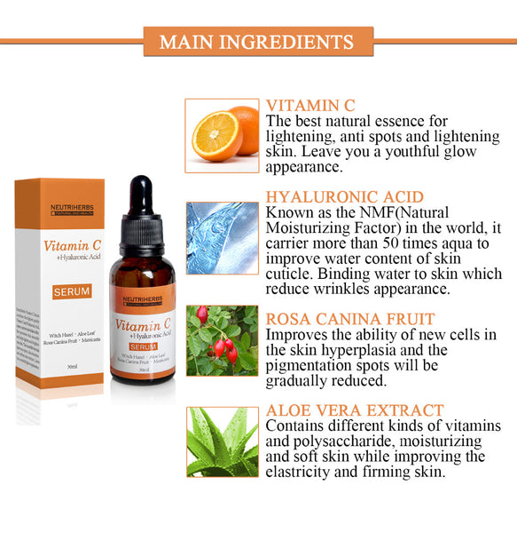 a0d9b0d87c4 ... Neutriherbs Face Vitamin C Serum Hyaluronic Acid Retinol Collagen Serum  Kit Skin Whitening Moisturizer Anti Wrinkle ...