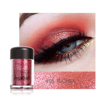 Focallure Glitter Powder Waterproof Loose Shimmer Pigment 3D Nude Metallic Makeup Cosmetics with 12 Colors
