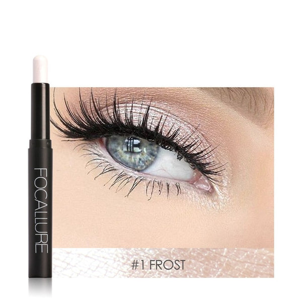 Focallure Beauty Naked Eye Liner Pencil Glitter Eyeshadow Stick 12 Colors Eye Makeup Shimmer Eye Shadow Pen Pigment Cosmetics