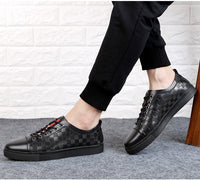 Ramialali Big Size 36-47 Casual Male Shoes Breathable Glitter Genuine Leather Men Mocassins Shoes Luxury Brand Men's Flats