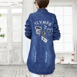 tnlnzhyn new Spring Fall Women Denim Jacket coat Pockets Long Sleeves Jeans Jacket Loose Casual ladies Denim outerwear Y315